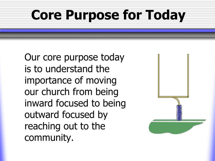 Core Purpose for Today