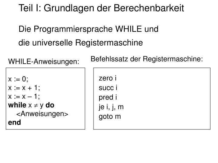 WHILE-Anweisungen: