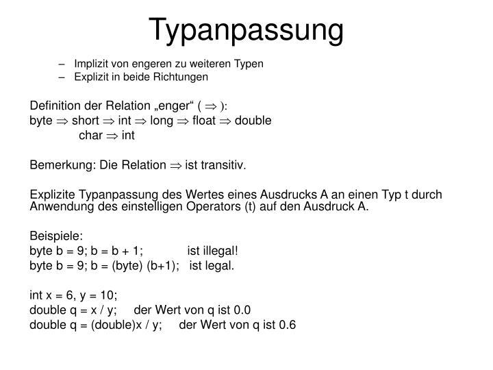 Typanpassung