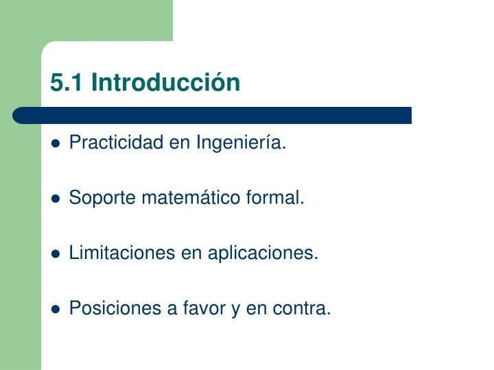 5.1 Introducción