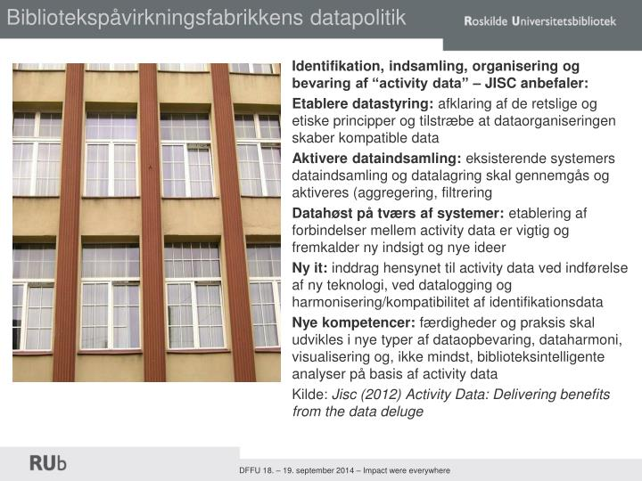 Bibliotekspåvirkningsfabrikkens datapolitik