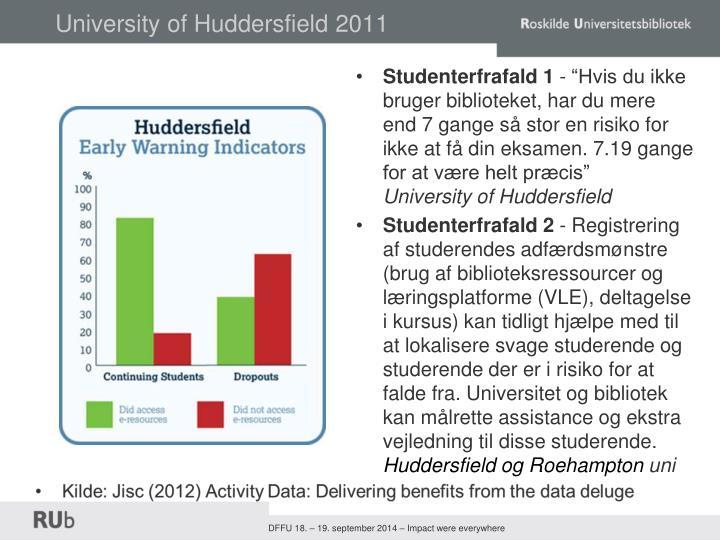 University of Huddersfield 2011