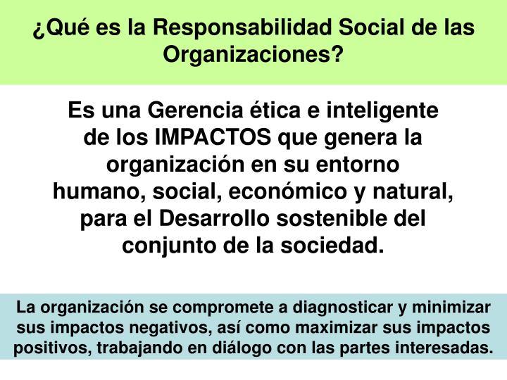 ¿Qué es la Responsabilidad Social de las Organizaciones?