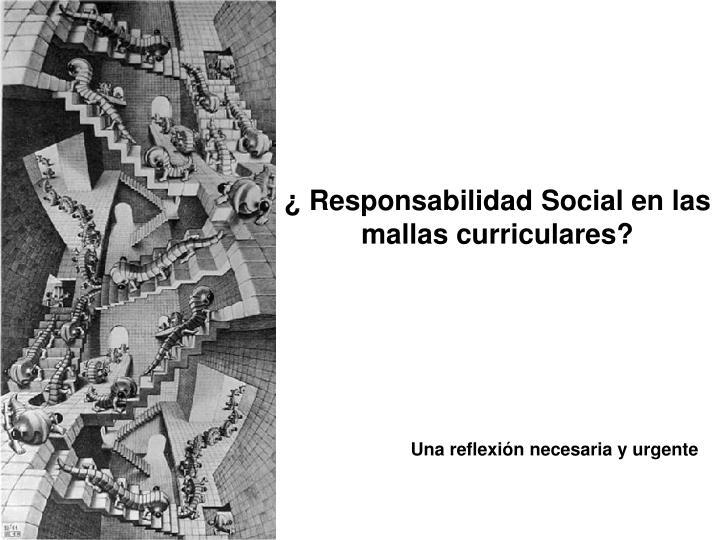 ¿ Responsabilidad Social en las mallas curriculares?