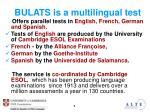 bulats is a multilingual test