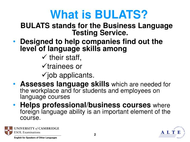 What is BULATS?