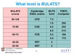 what level is bulats2