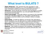 what level is bulats3