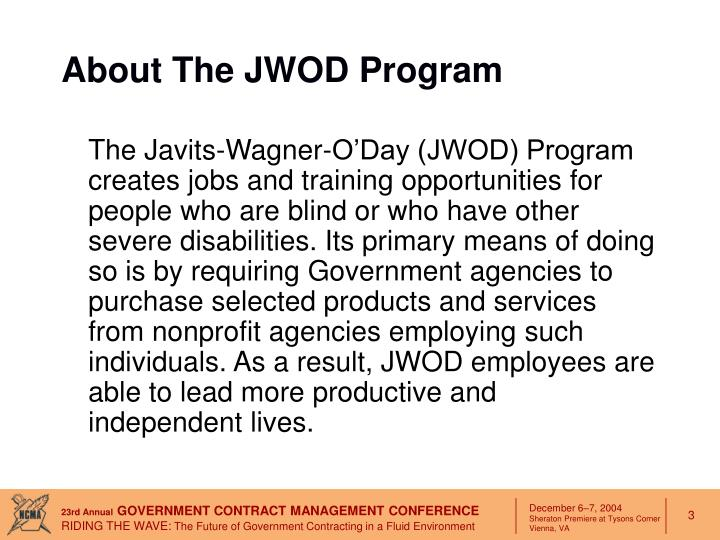 About the jwod program