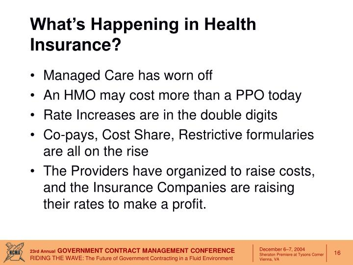What's Happening in Health Insurance?