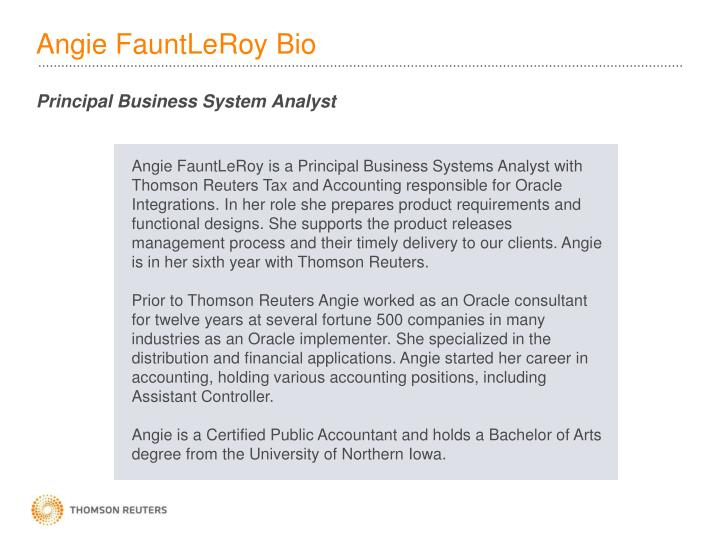Angie FauntLeRoy Bio