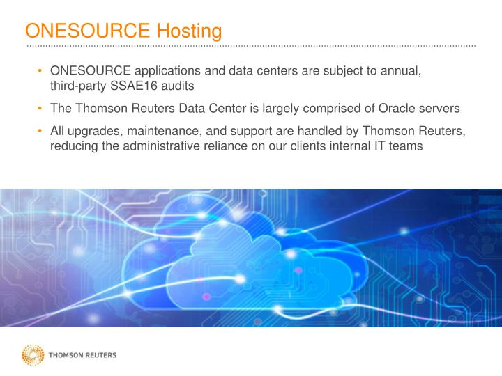 ONESOURCE Hosting