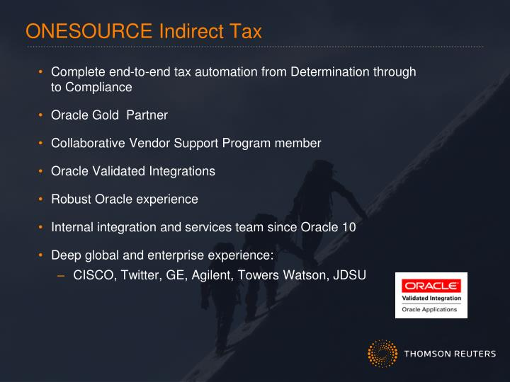ONESOURCE Indirect Tax