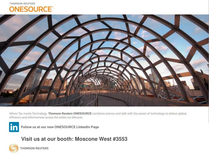 Visit us at our booth: Moscone West #3553