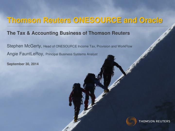 Thomson Reuters ONESOURCE and Oracle
