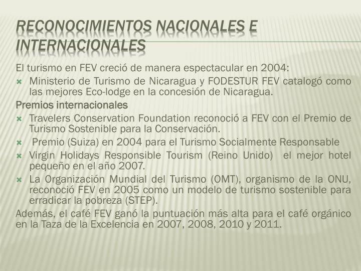 El turismo en FEV creció de manera espectacular en 2004: