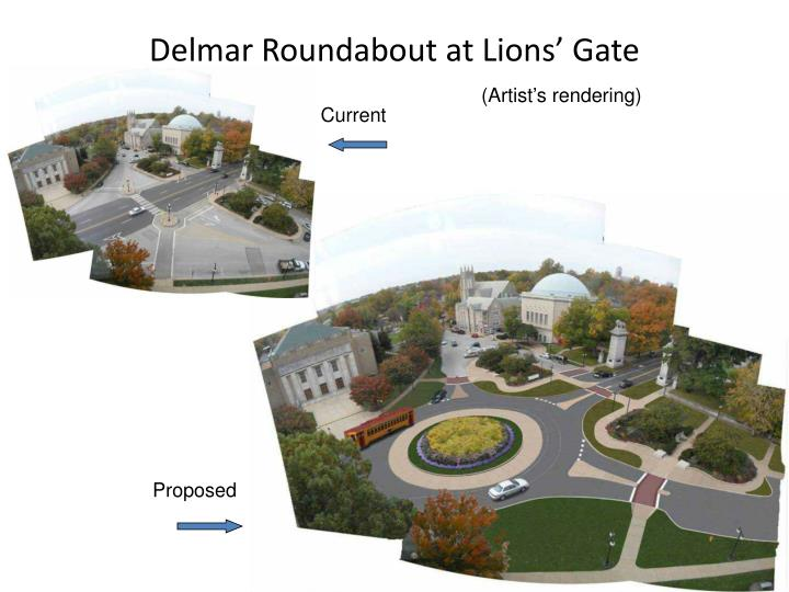 Delmar Roundabout at Lions