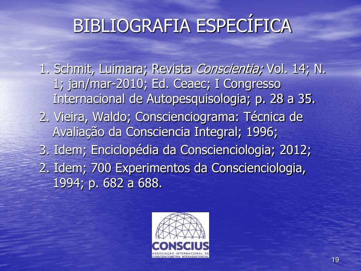 BIBLIOGRAFIA ESPECÍFICA