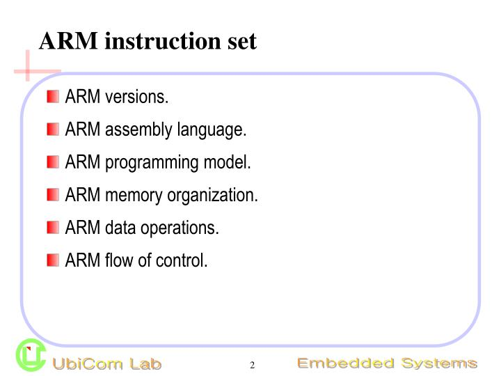 Arm instruction set