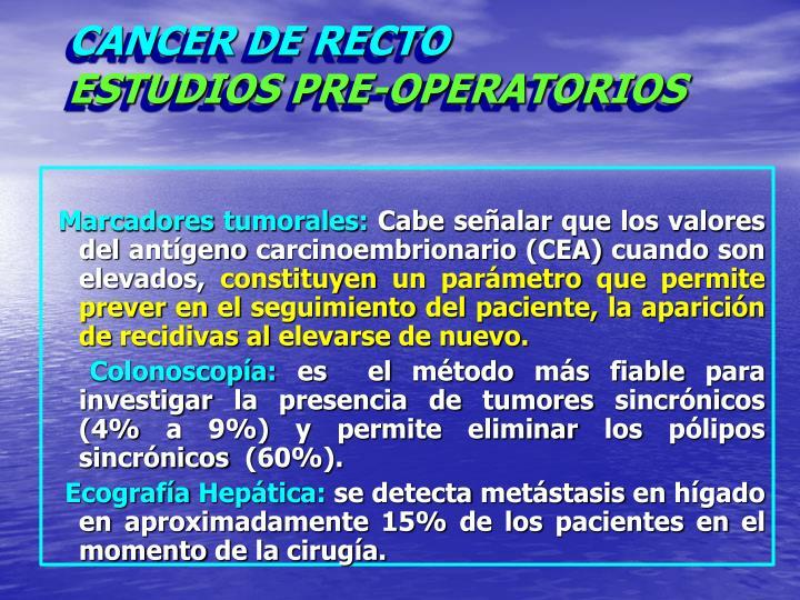 CANCER DE RECTO