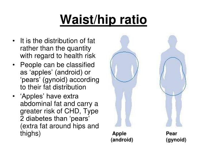 It is the distribution of fat rather than the quantity with regard to health risk