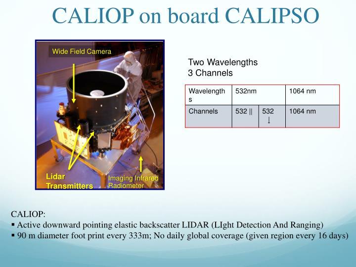 CALIOP on board CALIPSO