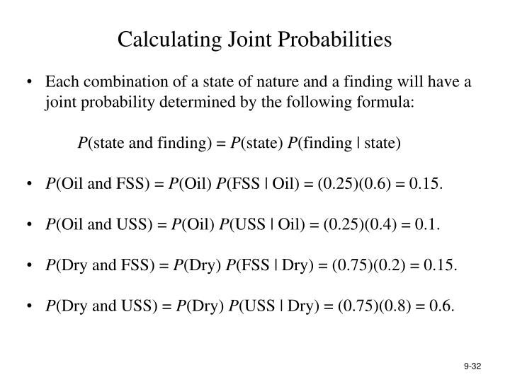 Calculating Joint Probabilities