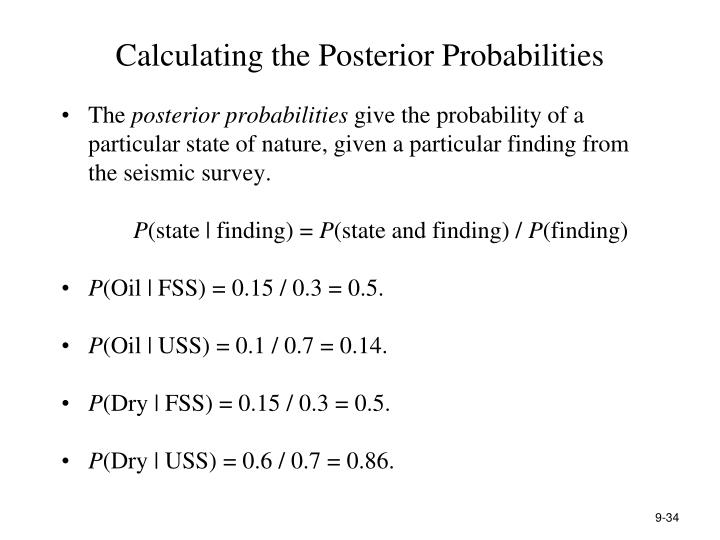 Calculating the Posterior Probabilities