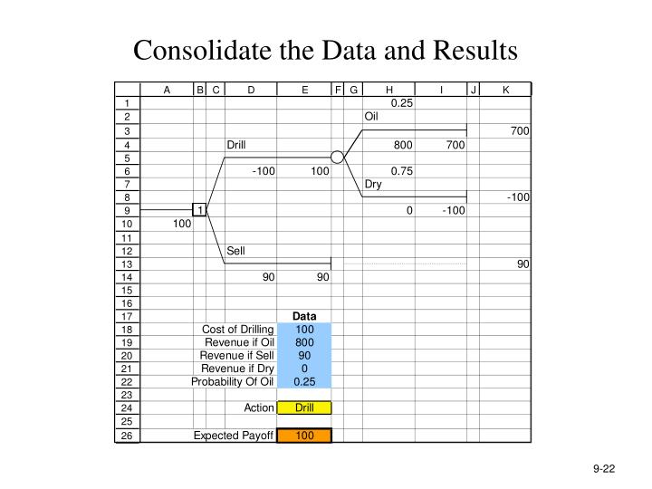 Consolidate the Data and Results