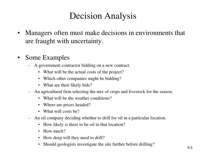 Decision analysis2