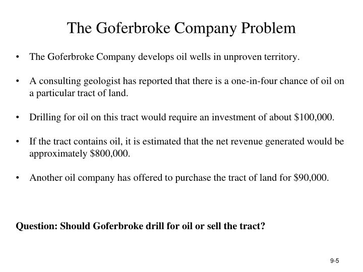 The Goferbroke Company Problem