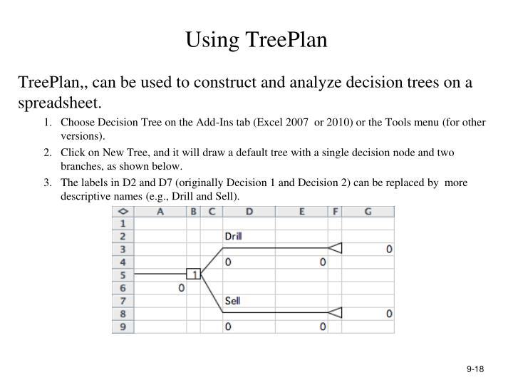 Using TreePlan