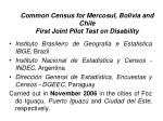 common census for mercosul bolivia and chile first joint pilot test on disability