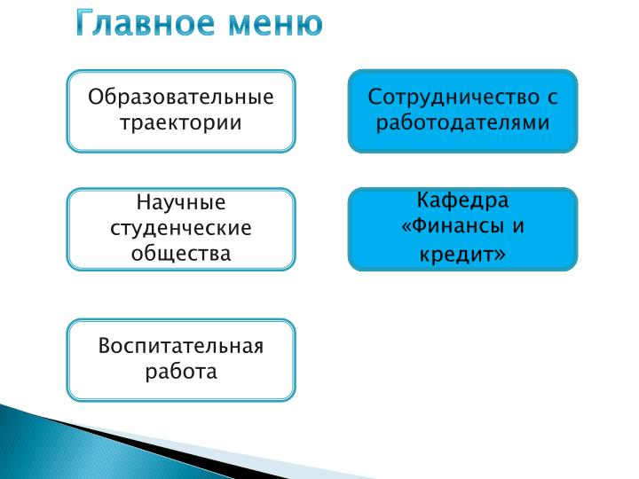 Главное меню