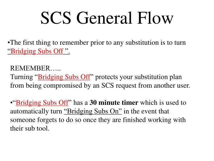 SCS General Flow