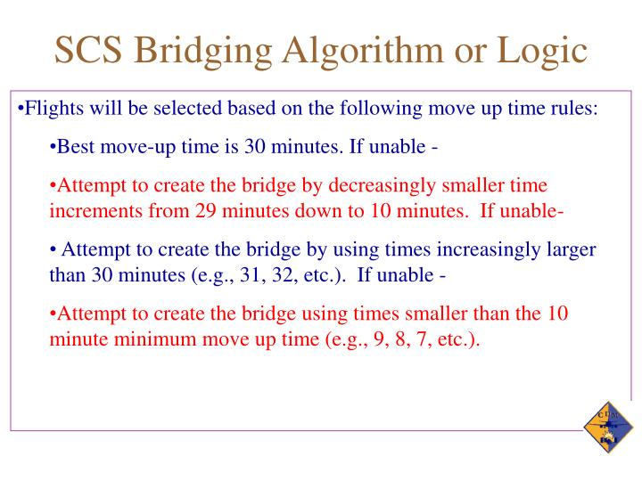SCS Bridging Algorithm or Logic