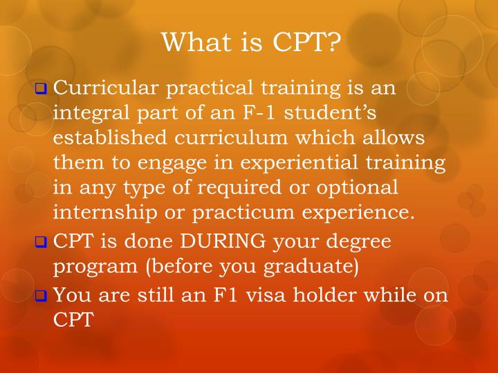 What is CPT?