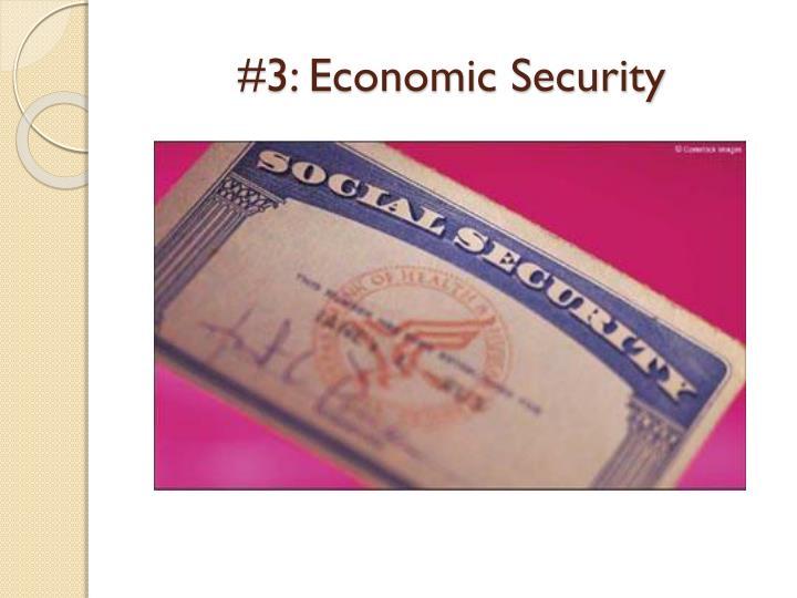 #3: Economic Security
