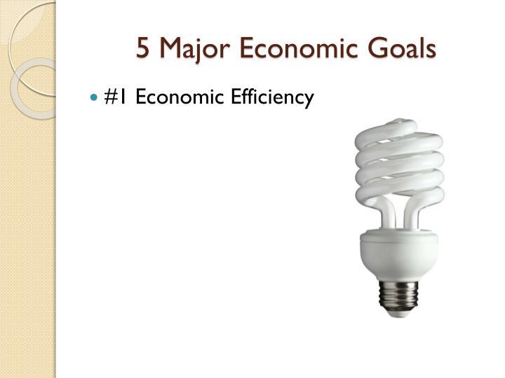 5 Major Economic Goals