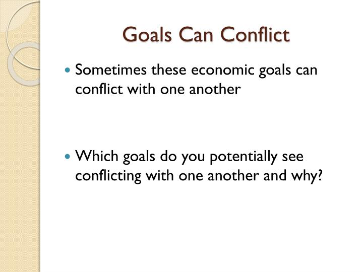 Goals Can Conflict