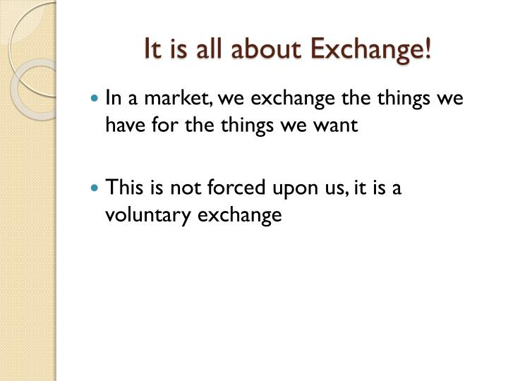 It is all about Exchange!