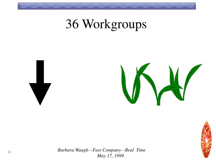 36 Workgroups