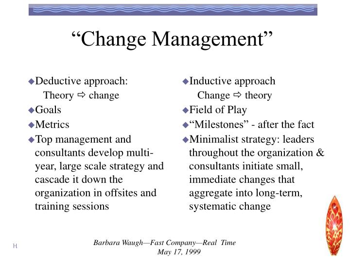 """Change Management"""