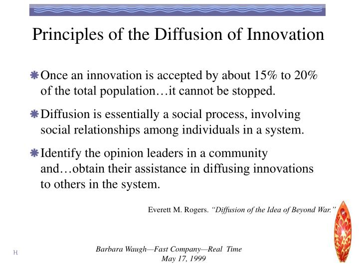 Principles of the Diffusion of Innovation