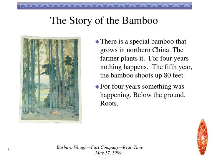 The Story of the Bamboo