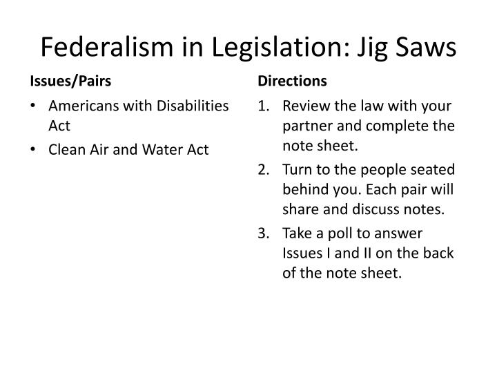 Federalism in