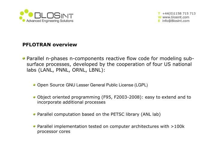 PFLOTRAN overview