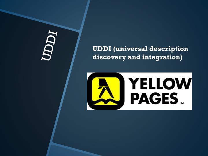 UDDI (universal description