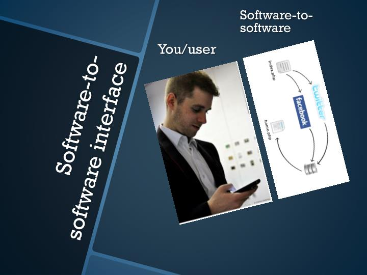Software to software interface