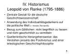 iv historismus leopold von ranke 1795 1886